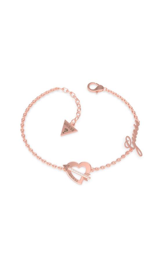 GUESS STEEL UBB79092-S Ροζ Χρυσό Βραχιόλι Με Καρδιά