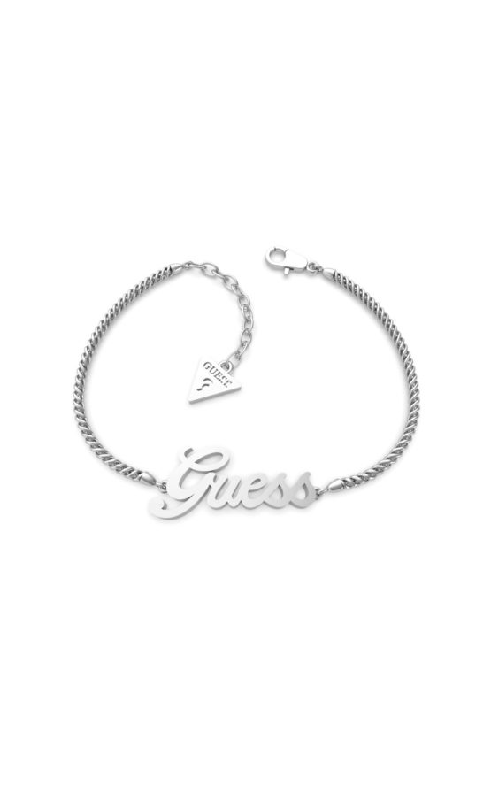 GUESS STEEL UBB79102-S Ασημένιο Βραχιόλι Με Λογότυπο