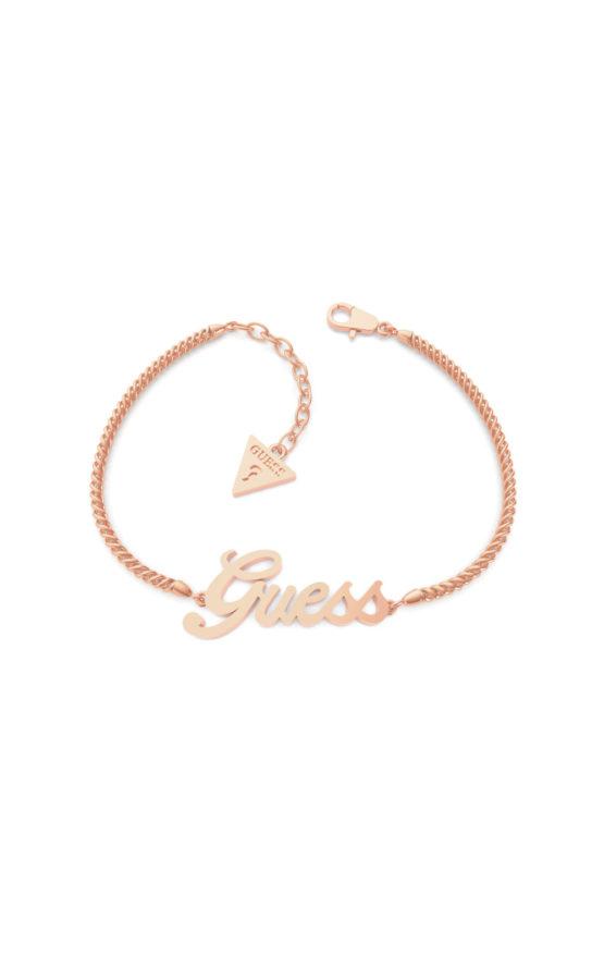 GUESS STEEL UBB79104-S Ροζ Χρυσό Βραχιόλι Με Λογότυπο