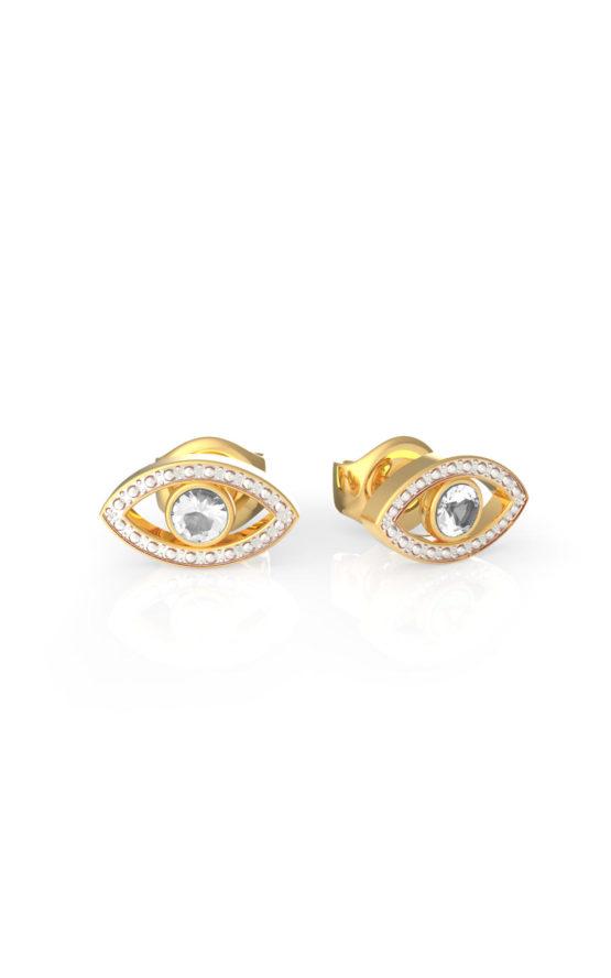 GUESS STEEL UBE29001 Χρυσά Σκουλαρίκια Μάτια