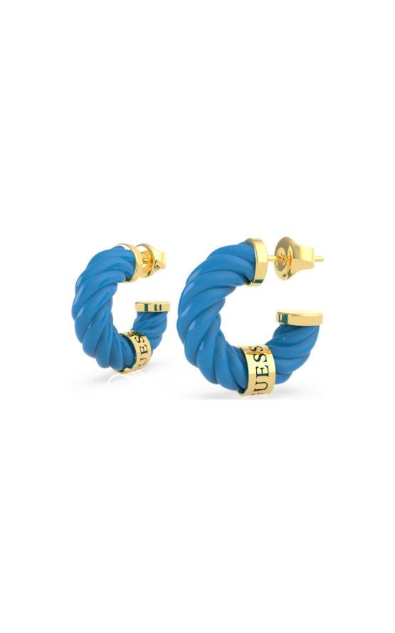 GUESS STEEL UBE70004 Μπλε & Χρυσά Σκουλαρίκια