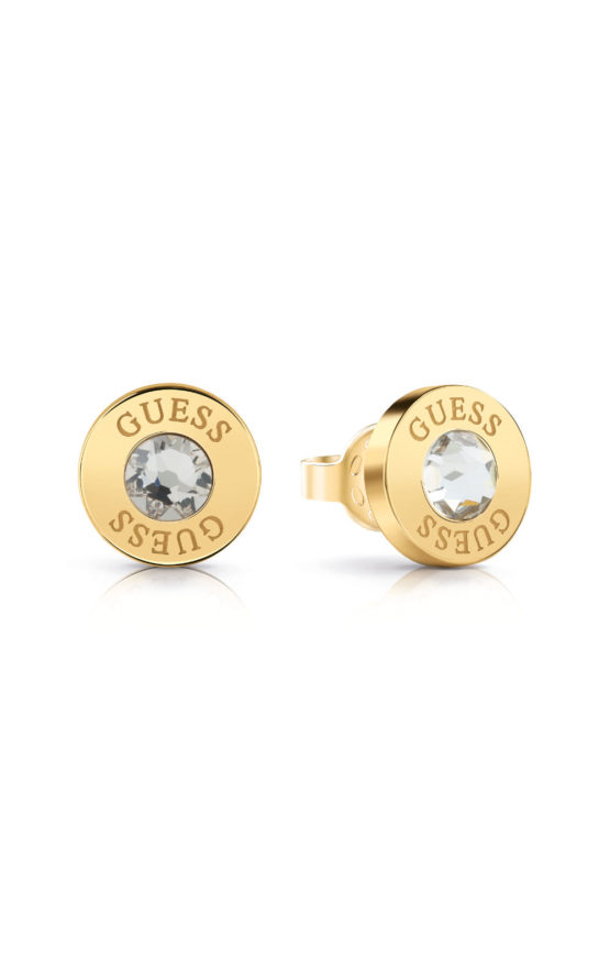 GUESS STEEL UBE78095 Χρυσά Σκουλαρίκια Με Πέτρα