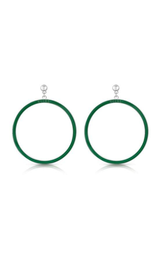 GUESS STEEL UBE78115 Πράσινα Σκουλαρίκια Κρίκοι