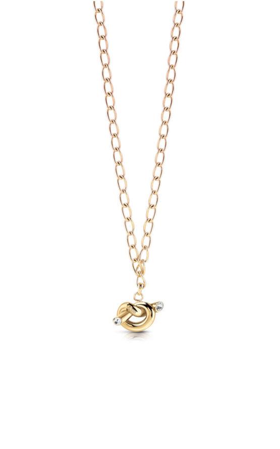 GUESS STEEL UBN29013 Χρυσό Κολιέ Με Κόμπο