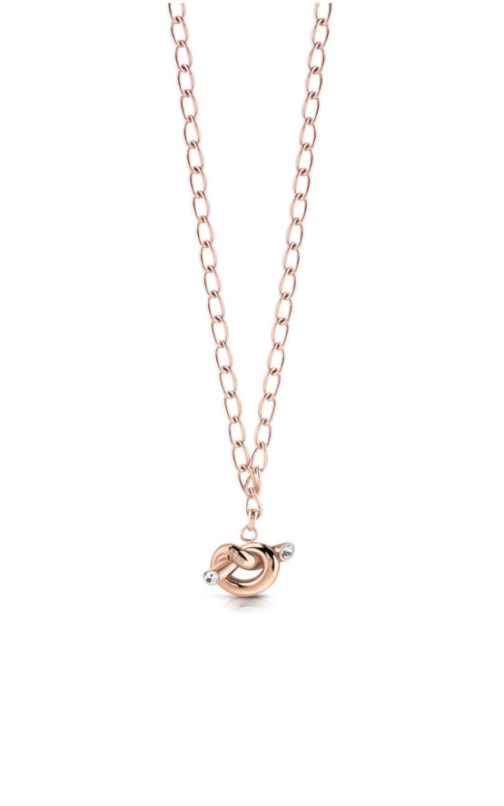 GUESS STEEL UBN29014 Ροζ Χρυσό Κολιέ Με Κόμπο