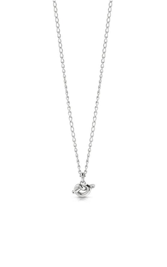 GUESS STEEL UBN29018 Ασημένιο Κολιέ Με Μικρό Κόμπο