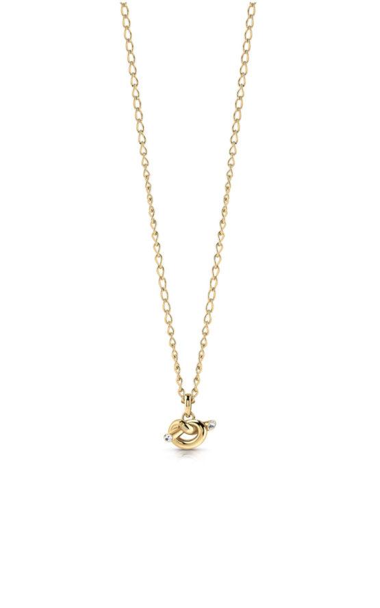 GUESS STEEL UBN29019 Χρυσό Κολιέ Με Μικρό Κόμπο