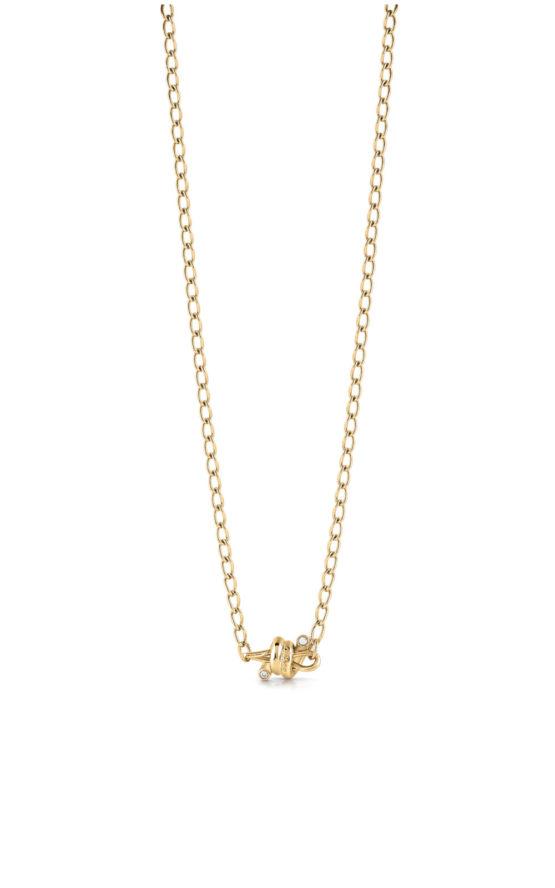 GUESS STEEL UBN29022 Χρυσό Κολιέ Με Αγκαθωτό Σύρμα