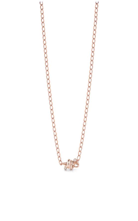 GUESS STEEL UBN29023 Ροζ Χρυσό Κολιέ Με Αγκαθωτό Σύρμα