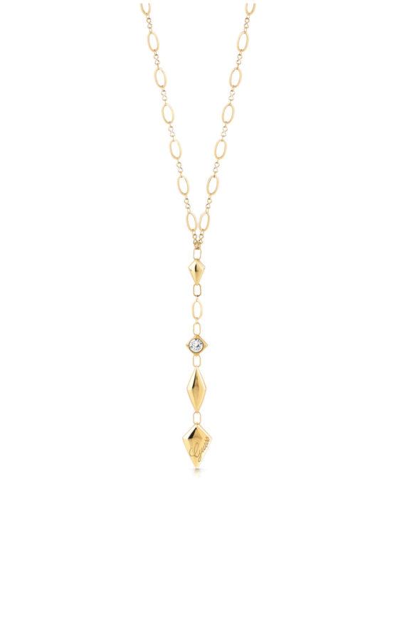 GUESS STEEL UBN29125 Χρυσό Κολιέ Με Ρόμβους