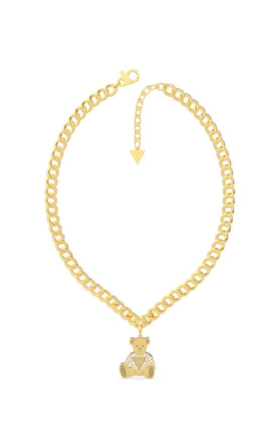 GUESS STEEL UBN70018 Χρυσό Κολιέ Με Αρκουδάκι