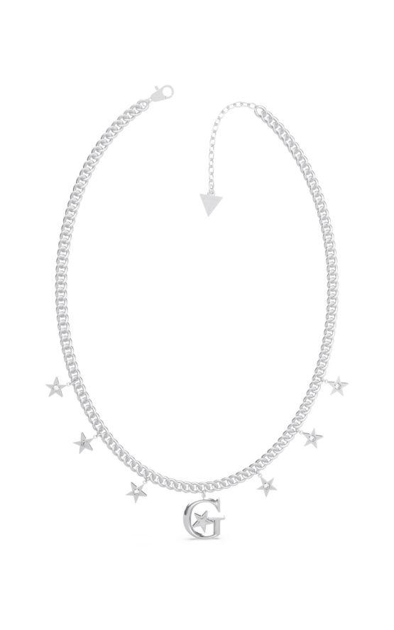 GUESS STEEL UBN70061 Ασημένιο Κολιέ Με Αστεράκια
