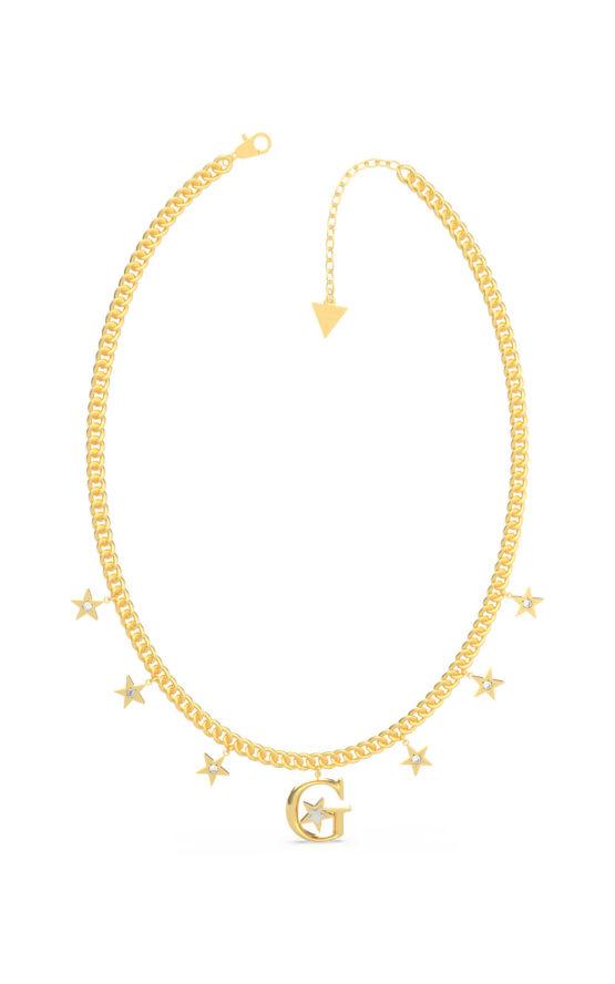 GUESS STEEL UBN70062 Χρυσό Κολιέ Με Αστεράκια