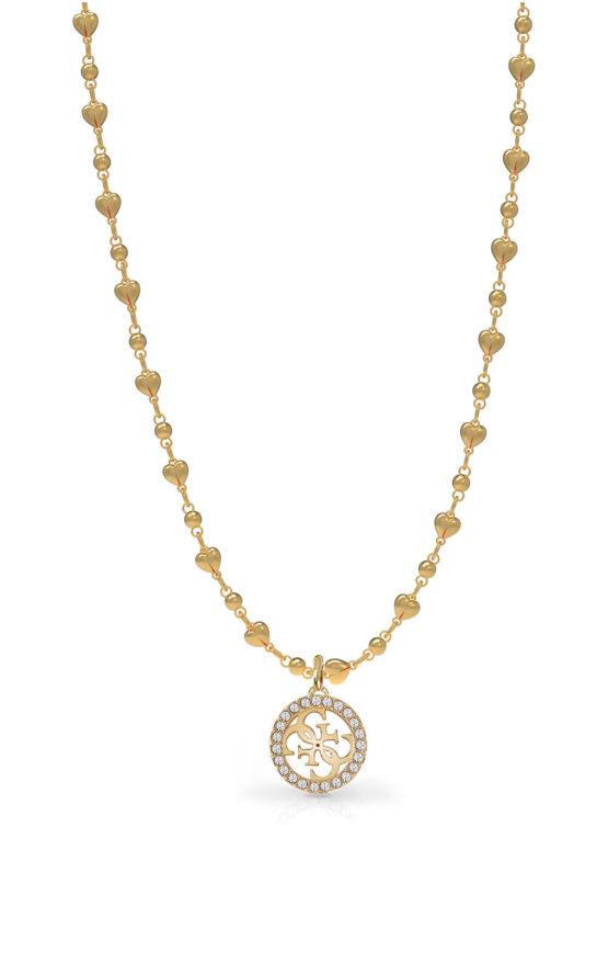 GUESS STEEL UBN78016 Χρυσό Κολιέ Με Καρδιές & Σχέδιο