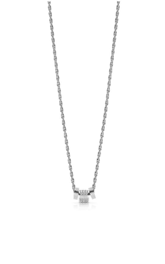 GUESS STEEL UBN78038 Ασημένιο Κολιέ Με Χάντρες