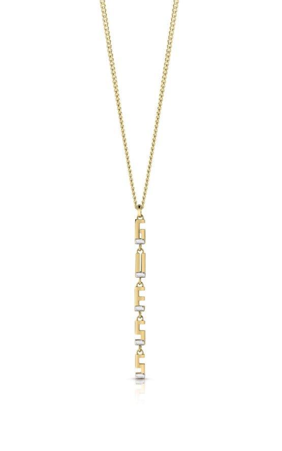GUESS STEEL UBN78046 Χρυσού Κολιέ Με Λογότυπο
