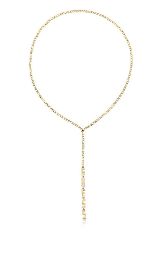 GUESS STEEL UBN78048 Χρυσού Κολιέ Με Λογότυπο
