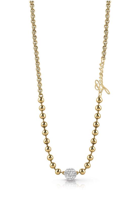 GUESS STEEL UBN78050 Χρυσό Κολιέ Με Πέρλες