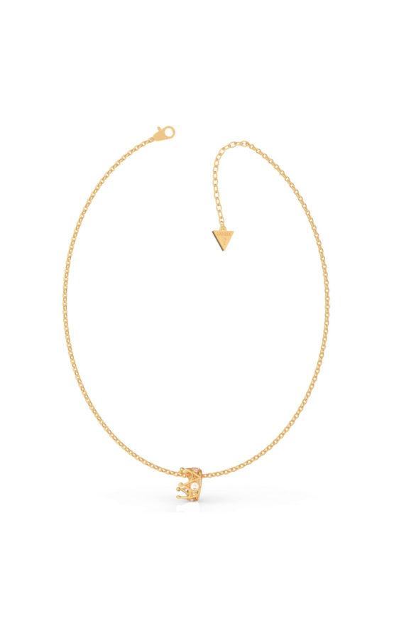 GUESS STEEL UBN79010 Χρυσό Κολιέ Με Κορώνα