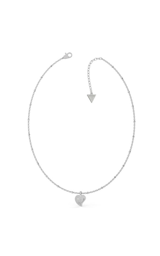 GUESS STEEL UBN79012 Ασημένιο Κολιέ Με Καρδιά