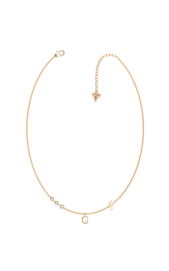 GUESS STEEL UBN79020 Χρυσό Κολιέ Με Γράμμα G