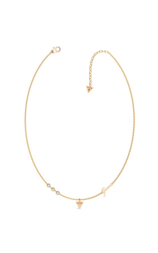 GUESS STEEL UBN79026 Χρυσό Κολιέ Με Τρίγωνο
