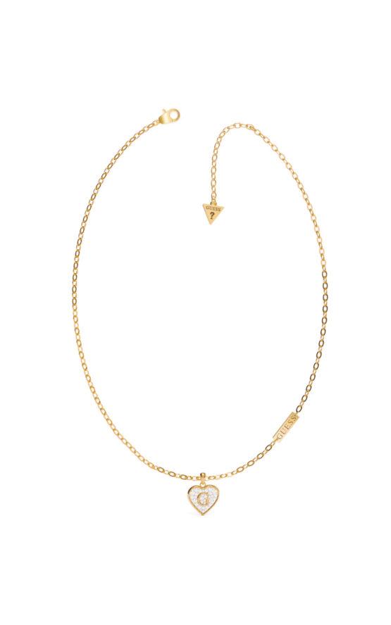 GUESS STEEL UBN79035 Χρυσό Κολιέ Με Καρδιά