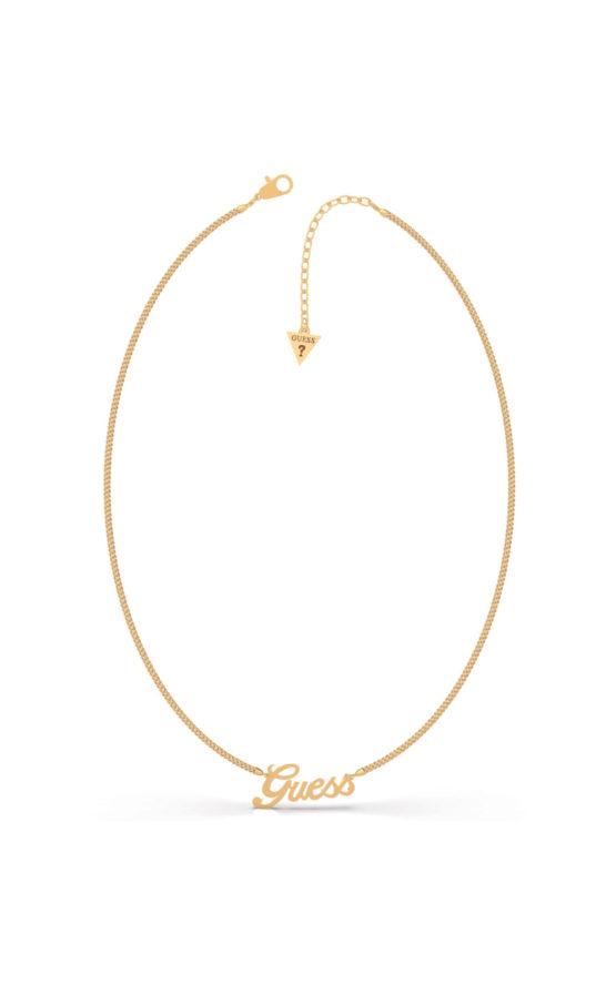 GUESS STEEL UBN79077 Χρυσό Κολιέ Με Λογότυπο