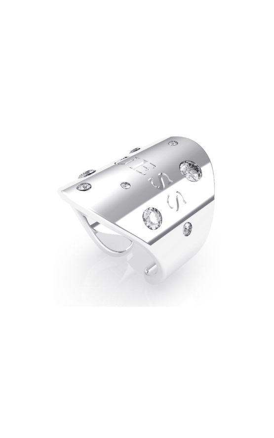 GUESS STEEL UBR70012-54 Ασημένιο Δαχτυλίδι Με Λογότυπο