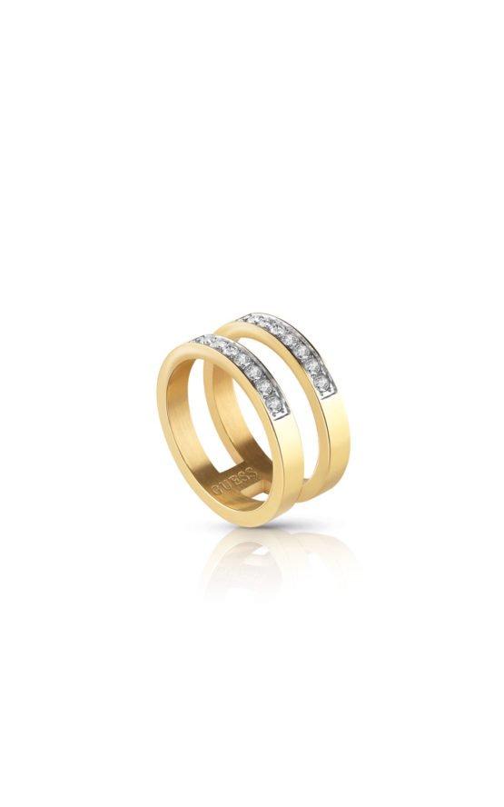 GUESS STEEL UBR78007-54 Χρυσό Δίβερο Δαχτυλίδι