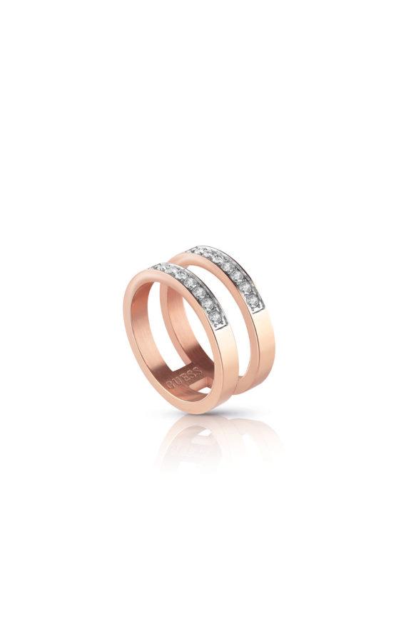 GUESS STEEL UBR78008-54 Ροζ Χρυσό Δίβερο Δαχτυλίδι