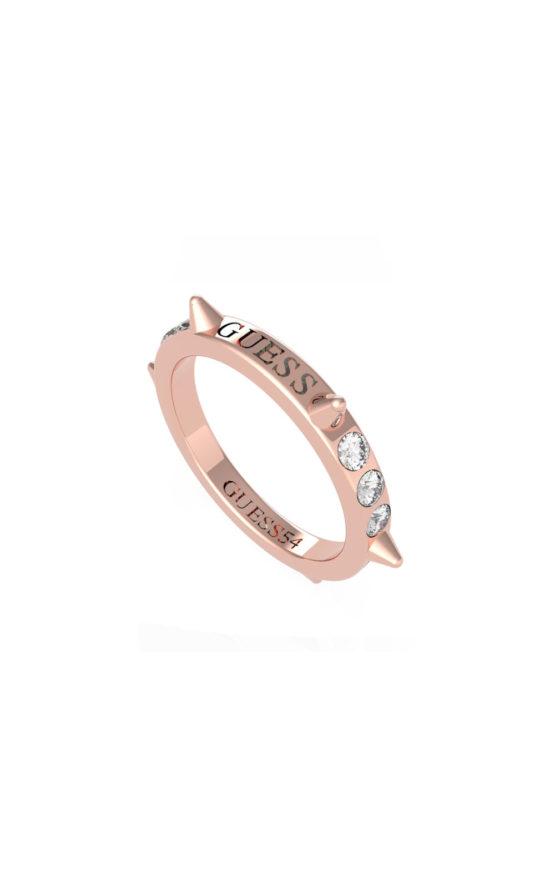 GUESS STEEL UBR79033-54 Ροζ Χρυσό Δαχτυλίδι Με Καρφάκια