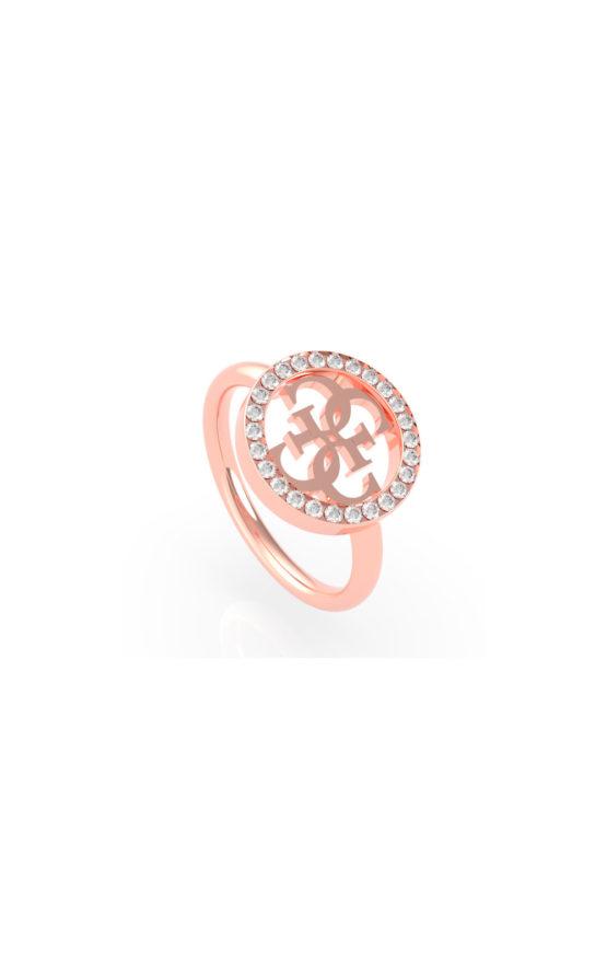 GUESS STEEL UBR79039-56 Χρυσό Δαχτυλίδι Με Σχέδιο