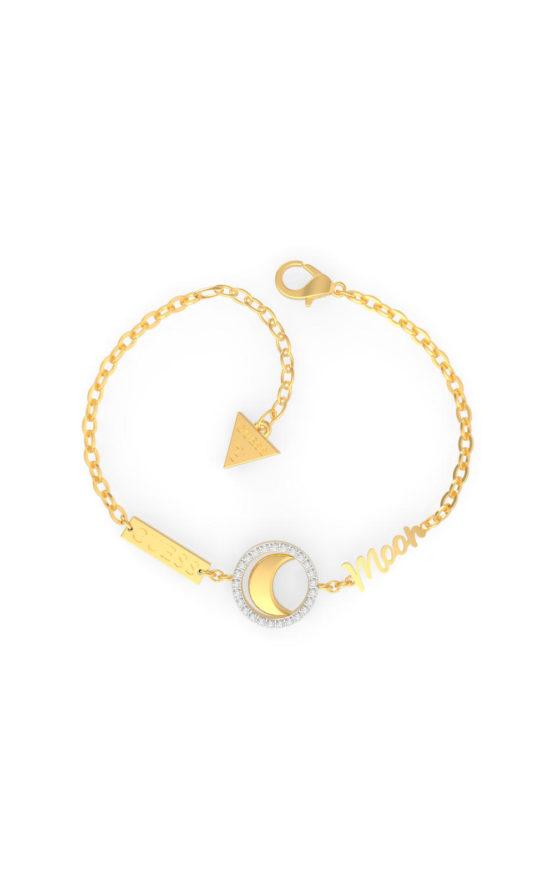 GUESS STEEL UBS29001-S Χρυσό Βραχιόλι Με Φεγγάρι
