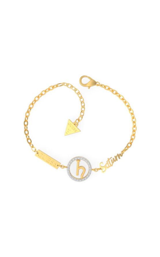 GUESS STEEL UBS29031-S Χρυσό Βραχιόλι Saturn