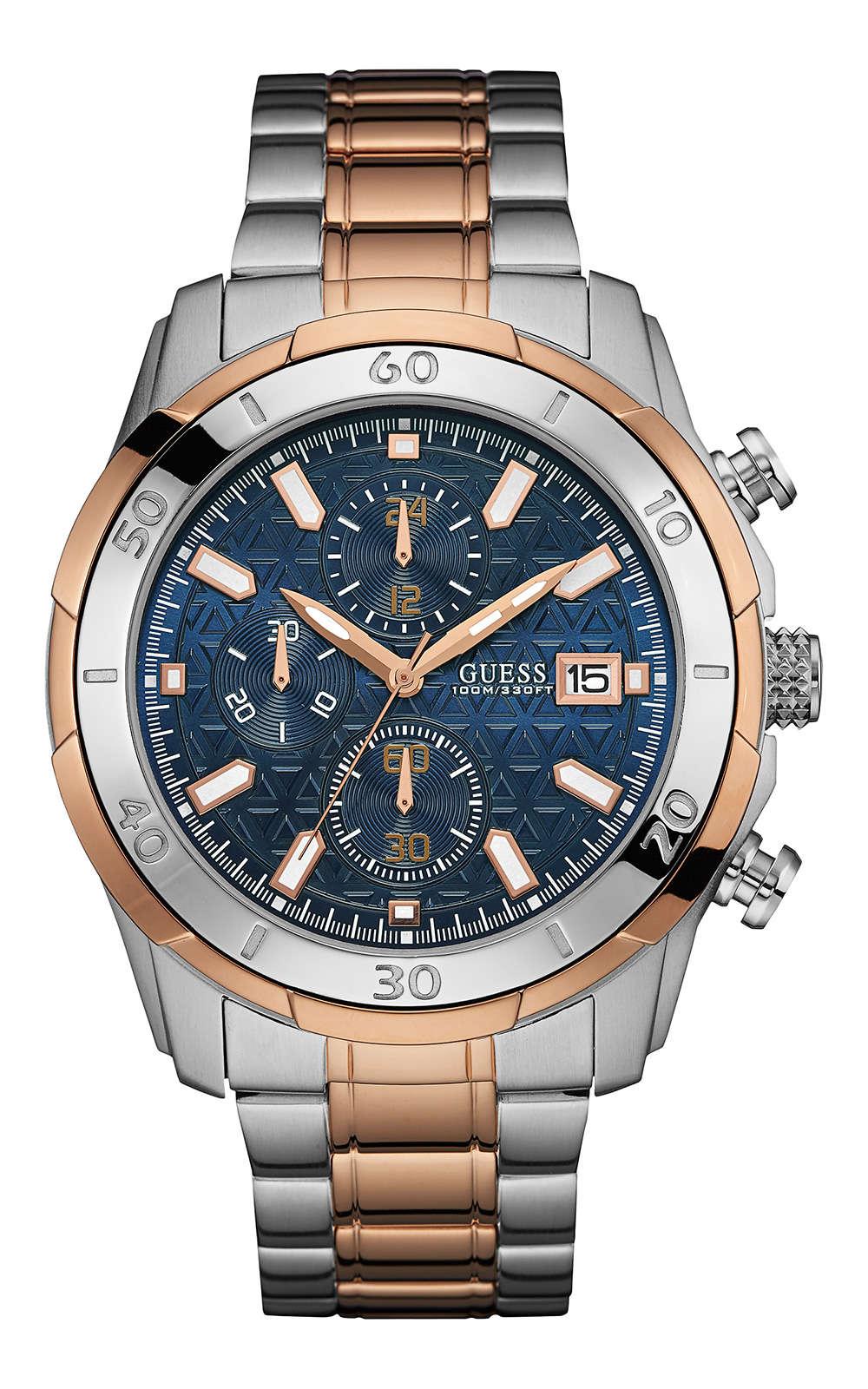 GUESS W0746G1 Ανδρικό Ρολόι Quartz Χρονογράφος Ακριβείας 75793e48ae6