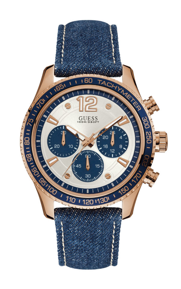GUESS W0970G3 Ανδρικό Ρολόι Quartz Χρονογράφος Ακριβείας