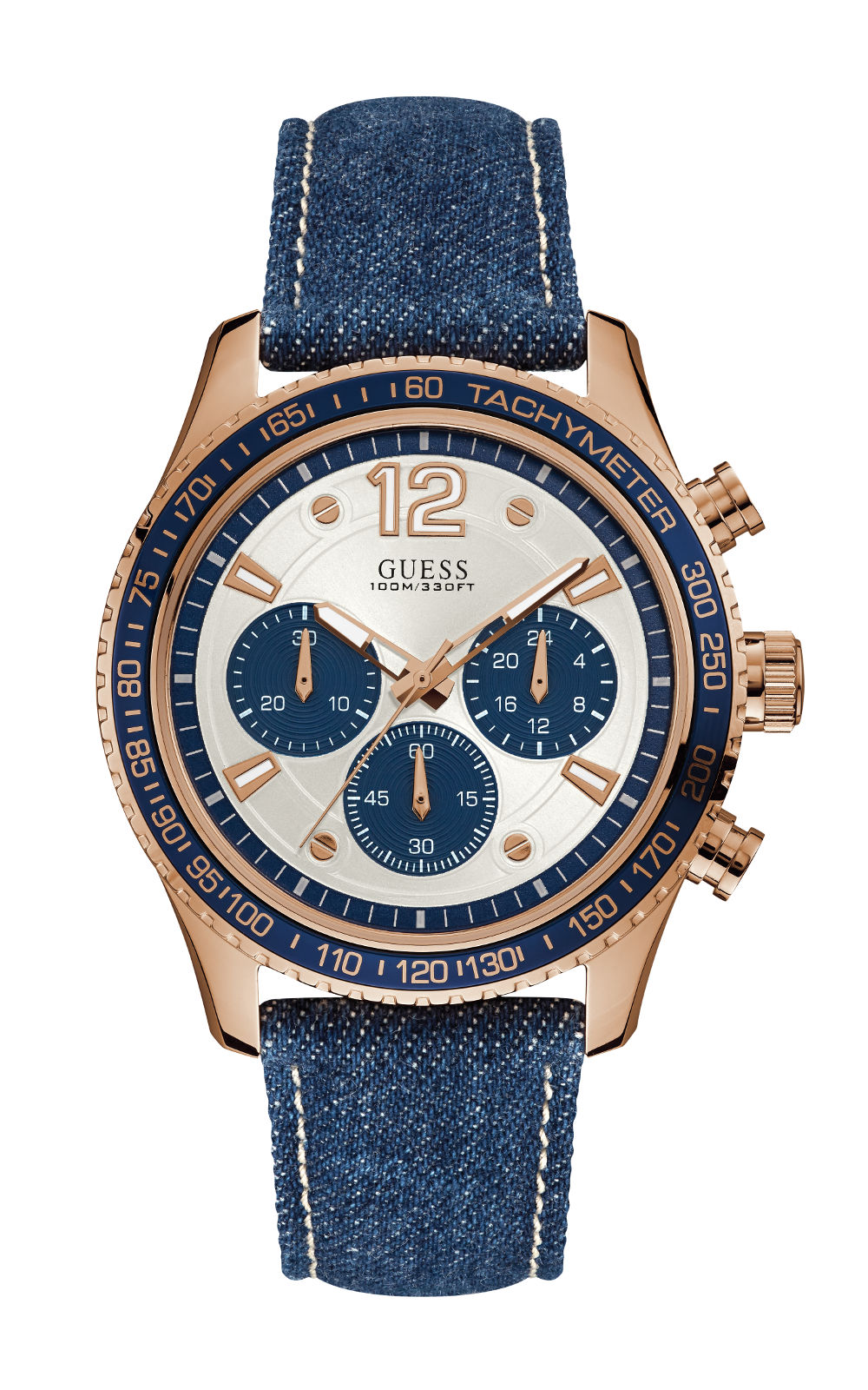 GUESS W0970G3 Ανδρικό Ρολόι Quartz Χρονογράφος Ακριβείας 92b55b5ebef
