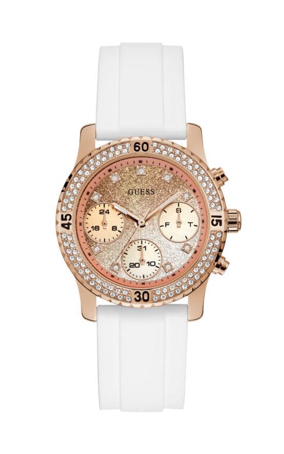 GUESS W1098L5 Γυναικείο Ρολόι Quartz Χρονογράφος Ακριβείας