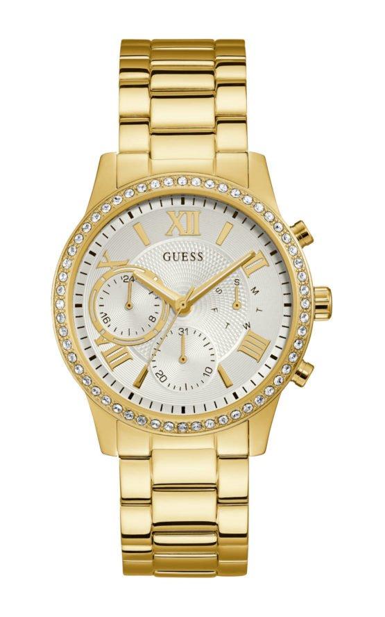 Guess W1069L2 Γυναικείο Ρολόι Quartz Χρονογράφος Ακριβείας