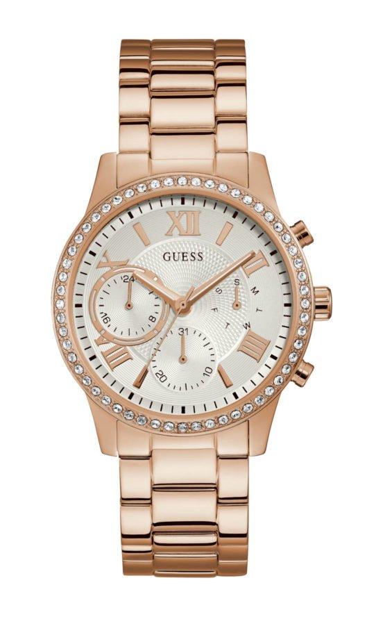 Guess W1069L3 Γυναικείο Ρολόι Quartz Χρονογράφος Ακριβείας