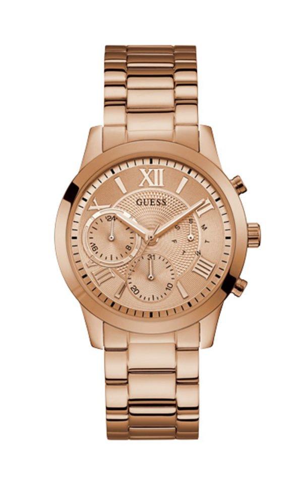 Guess W1070L3 Γυναικείο Ρολόι Quartz Χρονογράφος Ακριβείας