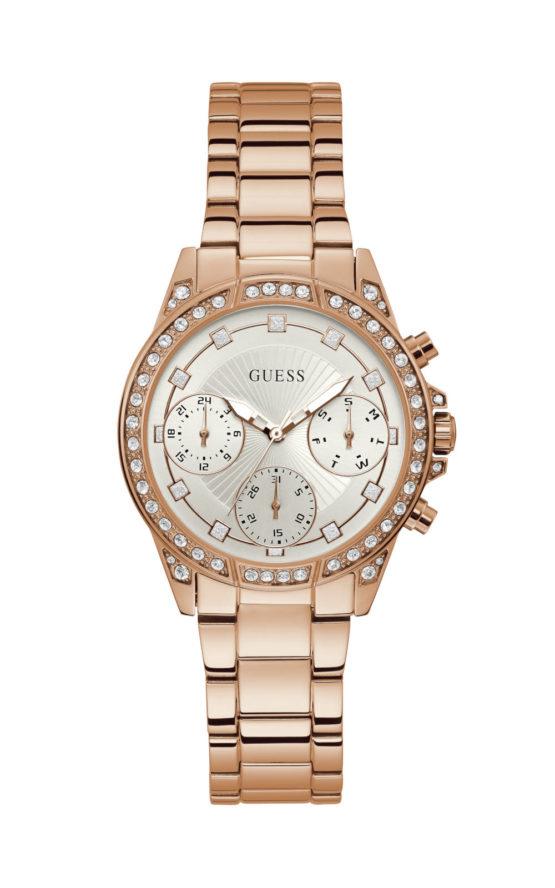 Guess W1293L3 Γυναικείο Ρολόι Quartz Χρονογράφος Ακριβείας