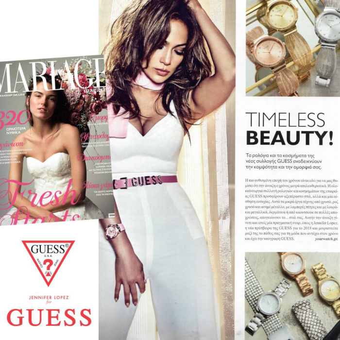 Jennifer Lopez and GUESS Watches @MARIAGE -SUMMER 2018