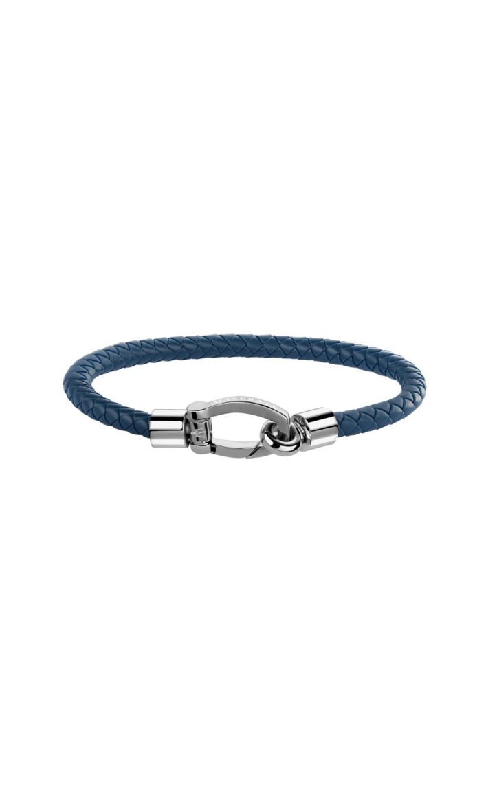 MASERATI JM218AMG04 Ανδρικό Μπλε Δερμάτινο Βραχιόλι