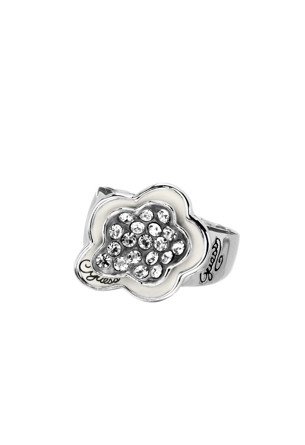 GUESS FAUX UBR31113-S Ασημένιο Δαχτυλίδι Με Λουλούδι 5a20f492c4d