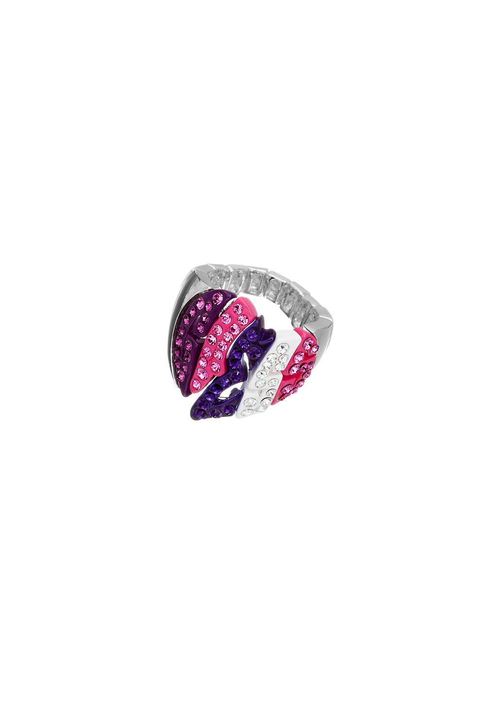 GUESS FAUX UBR41102-S Ασημένιο Δαχτυλίδι Με Πέτρες