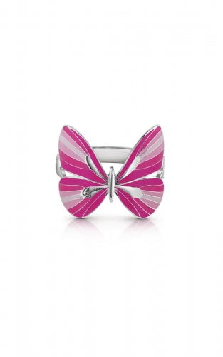 GUESS FAUX UBB85149 Ασημένιο Βραχιόλι Με Ροζ Πεταλούδα
