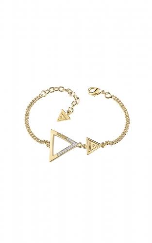 GUESS FAUX UBB83064-L Χρυσό Βραχιόλι Με Δύο Τρίγωνα