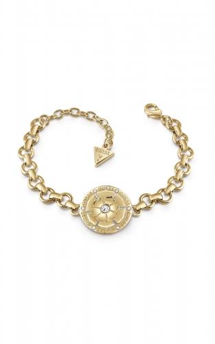 GUESS FAUX UBB28108-S Χρυσό Βραχιόλι Με Στρογγυλό Σχέδιο